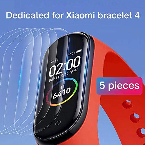 belukies Para El Protector De Pantalla Xiaomi Mi Band 4, HD Película De Pantalla Completa Templada Especial A Prueba De Roturas Superficie Verdadera