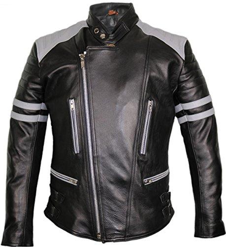 MDM Motorrad Lederjacke im Retro Stil (XL)