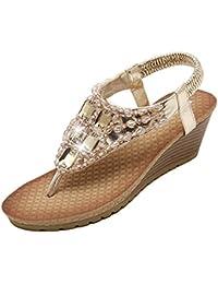Mine Tom Mujeres Elegantes Sandalias Peep Toe De Verano Zapatillas Sandalias De Cuña Sandalias T-Correa