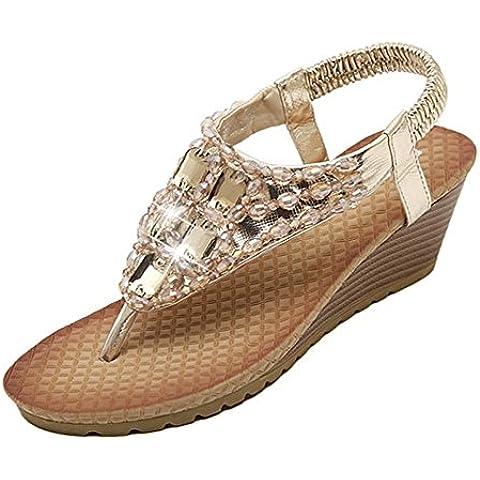 Mine Tom Mujeres Elegantes Sandalias Peep Toe De Verano Zapatillas Sandalias De Cuña Sandalias