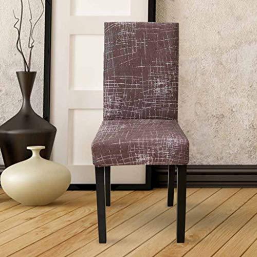 NIKIMI Flower Printing Chair Covers Abnehmbare Schonbezüge Stretch Elastic Klappstuhl für Hochzeiten Bankett Hotel