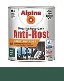 Alpina 750 ml Metallschutz-Lack 3in1 Direkt auf Rost, RAL 6005 Dunkelgrün Glänzend