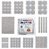 106pcs Assorted Self Adhesive Felt Pads Sticky Floor Protectors for Furniture Chair Table