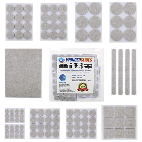 106 piezas surtidas autoadhesivas almohadillas fieltro