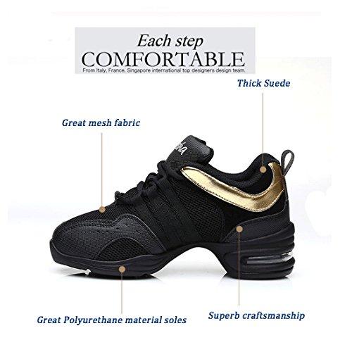 MQ , Chaussures de danse pour fille or doré Doré