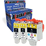 Alaskaprint 3x Cartucho de tinta Compatible Kodak 30XL Alta capacidad Compatible con Kodak ESP C100 C110 C115 C300 C310 C315 C330 C360 Office 2100 2150 2170 Hero 3.1 5.1 2.2 3.2S 4.2 con nuevos Chips (2 negro,1 colores)