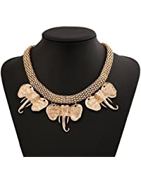 TBOP NECKLACE THE BEST OF PLANET Simple And Stylish Jewelry Exaggerated Metal Elephant Rough Short Chain Necklace...