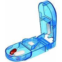 Pillendose / Pillenbox mit Tablettenteiler - Medikamentenbox mit Teiler - transparent blau - verschiedene Mengen... preisvergleich bei billige-tabletten.eu