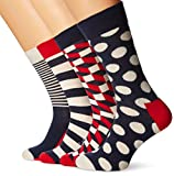 Happy Socks Herren Socken XBDO09-Big Dot Gift Box-Regular, 4er Pack, Blau (Navy 6000), One Size (Herstellergröße: 41-46)