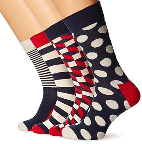 Happy Socks Herren Socken XBDO09-Big Dot Gift Box-Regular 4er Pack,