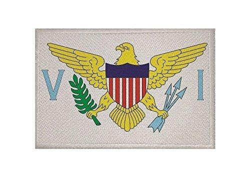 UB Aufnäher Virgin Islands USA Flagge / Fahne Aufbügler Patch 9 cm x 6 cm Neuware!!! -
