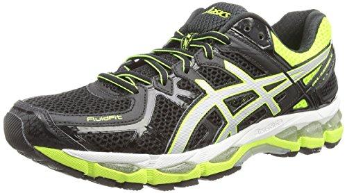 asics-gel-kayano-21-mens-training-running-shoes-black-black-silver-flash-yellow-9093-65-uk-405-eu