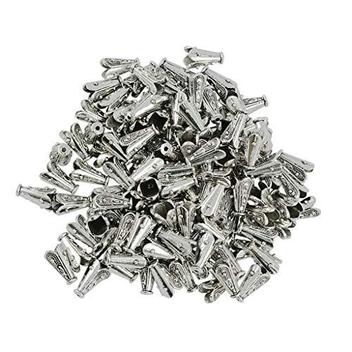 D DOLITY 100 Stücke Tibetischen Silber Quaste Kappen Perlenkappen Endkappen für Schmuck Machen, Ohrring Finden, Halskette Anhänger (Für Schmuck Machen Endkappen)