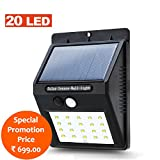 #10: Zeus 20 LED 1W Solar Ultra Bright Motion Sensor 3 Mode Light Weatherproof 300 Lumens Outdoor Garden Fence Security Wall Light - Special Promotion Price (20 LED)