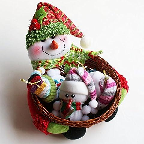 Material: Bambú cesta <br/> Categoría:cesta de caramelos cosmética <br/> proceso manualmente: <br/> Especificaciones: Snowman , Alemania , los ancianos