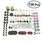 Ukcoco 136pz Wire Wheel Brush set lucidatura ruote mole abrasive kit di accessori per trapano Dremel Rotary Tools