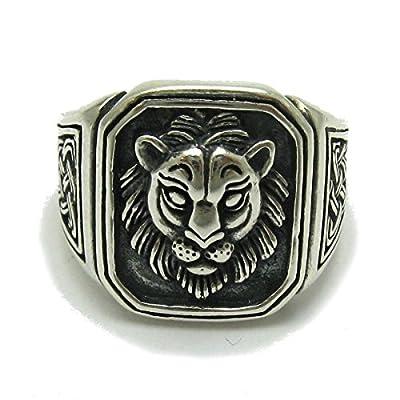 Bague en argent massif 925 Lion R001704