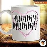 Yummy Mummy Mum Mutter Baby Dusche Kaffee Tee Tasse Geschenk Geburtstagsgeschenk