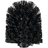 InterDesign Replacement Toilet Bowl Brush Head for Bathroom, Black