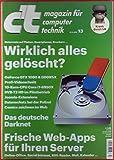 ct magazin für computer technik 13/2016, Richtig löschen - Web-Apps - Das deutsche Darknet...