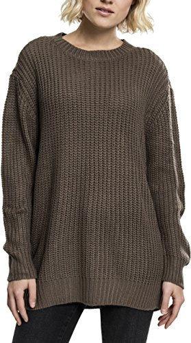 Urban Classics Damen Pullover Ladies Basic Crew Sweater, Grün (Army Green 1144), X-Small