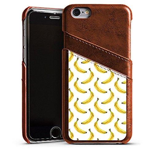 Apple iPhone 4 Housse Étui Silicone Coque Protection Bananes Été Fruits Étui en cuir marron
