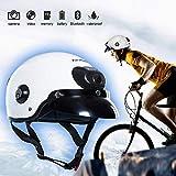 HXZM Haut-Parleur Bluetooth 2K avec caméra pour Enregistrement vidéo et Photo adapté Moto, vélo, Planche à roulettes, Extreme sportsh caméra pour la vidéo