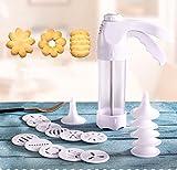 Gebäck Dekorieren Gun mit 12Modellierung Blume Formen und 6Tüllen-Set für Bakery Muffin Kuchen Cookie Kekse creme Dekorationen