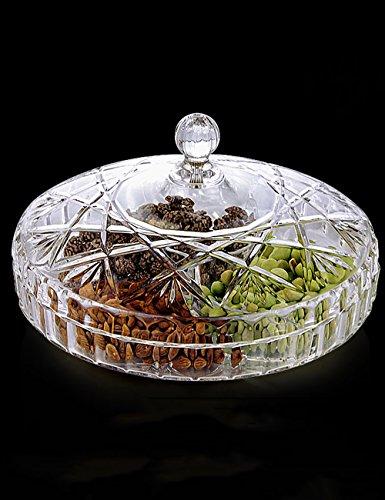 Piatto di frutta-- Piastra frutta secca con coperchio Soggiorno creativo di plastica trasparente Capodanno Candy Piastra --Health E tutela ambientale ( dimensioni : 25*15cm )