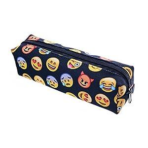 Tukistore Oxford Emoji Estuche de Lápices cartuchera Bolsa de Pluma Organizador Bolsa, Bolsa de Viaje cosmética Niñas…