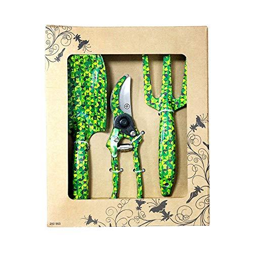 FLORA GUARD 3-teiliges Aluminium-Gartenwerkzeug-Set – Kelle, Kultivator, Gartenschere, Geschenkset für Gartenbedürfnisse