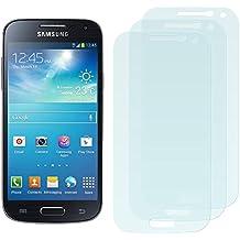 3 x Filmex Protector de Pantalla para Samsung Galaxy S4 Mini (GT-i9190, i9192 Dual Sim, i9195 LTE) - Antibrillo (Anti-Reflejo), Japón PET de primera calidad, Kit de instalación, Garantía permanente