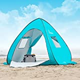 WolfWise UPF 50+ Pop-up Beach Tent, Baby Canopy Beach Umbrella Instant Sun Shelter