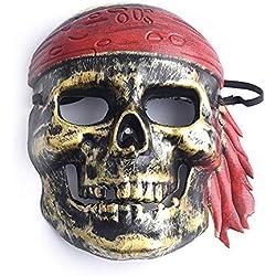 Máscara con diseño de calavera.