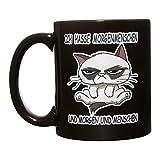 Kaffeetasse: Ich hasse Morgenmenschen | Beidseitig Bunt Bedruckt | Kaffeebecher groß mit Spruch & mit Motiv | Morgenmenschen