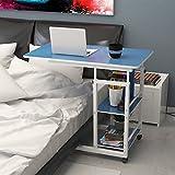 JNYZQ Bedside Computer Desk Es kann Höhenverstellbare Haushaltsbett Tisch Kleine Schreibtisch bewegen (Farbe : Blau)