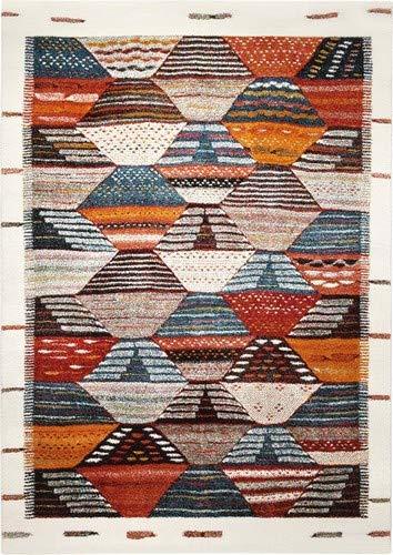 wecon home Modern Berber Moderner Markenteppich Polypropylen Mehrfarbig 200 x 133 x 1.3 cm