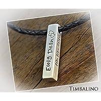Namenskette, Männerkette mit Gravur, Silberbarren