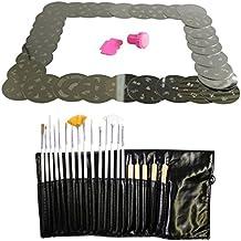 Kurtzy TM Set 30 Placas Estampar Uñas con Kit 20 Piezas Brochas Arte Uñas Bolígrafos Herramientas