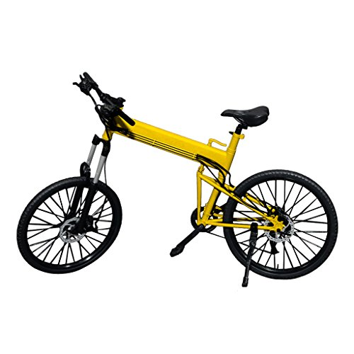 Imported 1:6 Scale Foldable Bike Bicycle Yellow