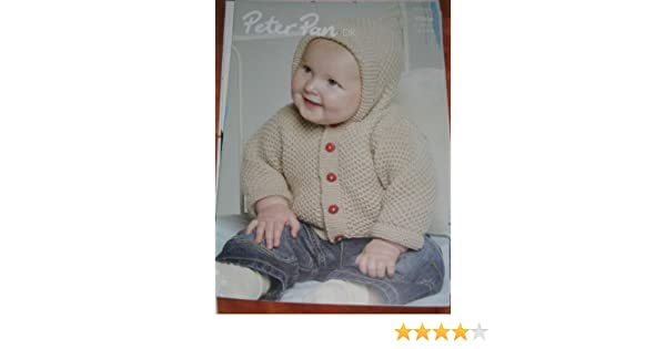 1b8a13354aa9b Peter Pan Knitting Pattern 1056 Baby   Girl   Boy Hooded Jackets 12 26in DK  includes premature sizes  Amazon.co.uk  Peter Pan  Books