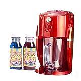 lickleys Cono de Nieve Hielo Afeitadora/GRANIZADO fabricante hace Hogar hielo bebidas, Nieve Conos, slurpees - Red Machine with Twin Pack