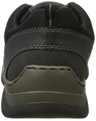 Rieker 16920, Sneakers Basses Homme Noir (Schwarz/granit/schwarz)