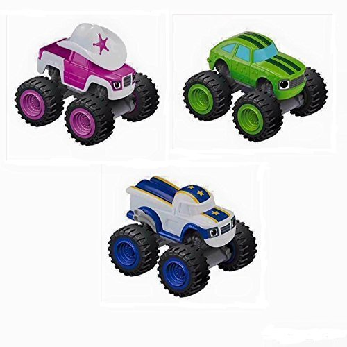Monster-truck-bundle (Nickelodeon's Blaze and the Monster Machines Starla, Pickle, Darlington Truck Bundle by Blaze and the Monster Machines)