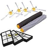 Kit di Sostituzione IRobot Roomba Serie 800 860 865 866 870 871 880 885 886 890 900 960 966 980 - Accessori, Filtri e Spazzole (A Set)