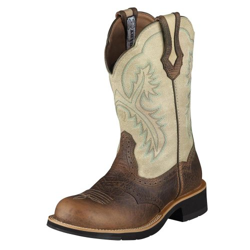 Ariat  Fatbaby, Bottes et bottines cowboy femme Multicolore - Earth Bone Crackle