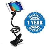 Drumstone Universal Flexible Portable Foldable 360 Degree Mobile Phone Smartphone Holder Stand for Car Office Home Bed Desk Table for Apple iPhone Samsung Moto Redmi OnePlus Lenovo (Color May Vary)