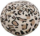 Yppss Lana Beret Femminile Autunno e l'inverno di Lana Filo Intrecciato Cappello Pittore Cappello Leopardo Basco, Beige (Color : Beige, Size : -)