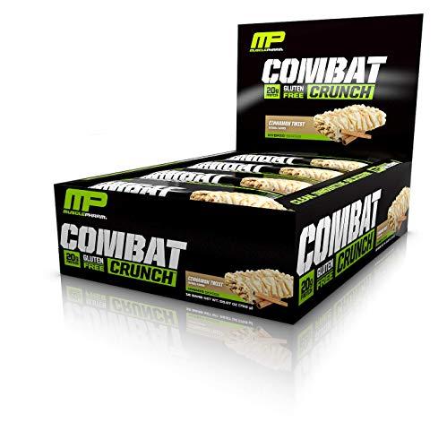 MusclePharm Combat Crunch Bars (12x63g) Cinnamon Twist, 756 g - Zimt 12 Bar