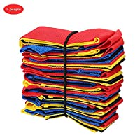 asterisknewly Cooperative Band Walker Set of 5 Legs or 10 Legs Elastic Rope Straps for Children Set of Legs Racing Carnival Field Day Patio Rear and Relevos Race 5 personas 1